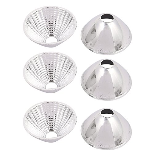 Aexit 6Pcs COB Lighting fixtures and controls LED Flashlight Reflector Collimator Light Lamp Holder Silver Tone