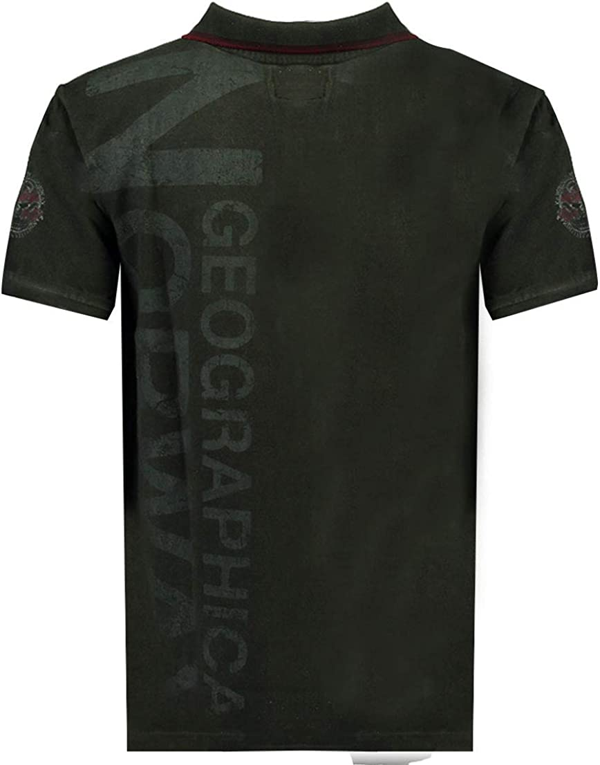 Polo Kotz para hombre 100/% algod/ón Geographical Norway SR582H-GN-negro-XXXL camiseta de manga corta