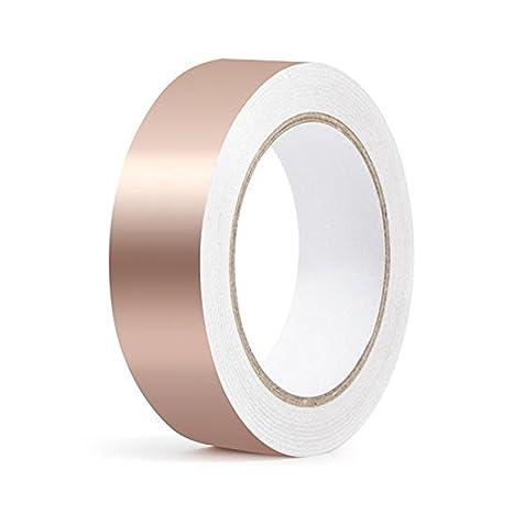 URXTRAL Cinta de cobre con adhesivo conductor, conductividad doble EMI Blindaje, vidrieras, manualidades