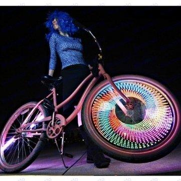 roue vélo Led de vélo 32 de 16 Flash vélo Friday pneu Man valve Variation Light qwZpvqT1