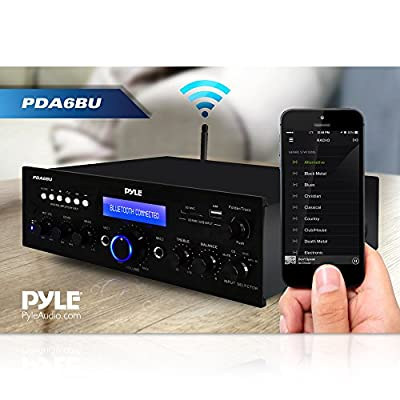 Pyle PDA6BU 200 Watt Bluetooth Stereo Amplifier Receiver with Remote Control and FM Antenna by Sound Around
