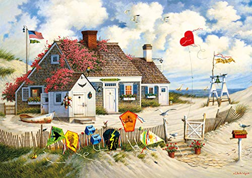 🥇 Buffalo Games – Charles Wysocki – Root Beer Break at the Butterfields – 300 Large Piece Jigsaw Puzzle