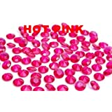 5000 diamond scatter crystals wedding table decoration (hot pink)