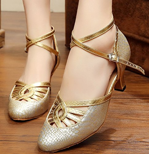 Toe Strap Latin Womens Cha 7055 Shoes Dance Tango Find Kitten Practice Ankle Gold Cha Closed Wedding Heel Nice Ywx0qZP