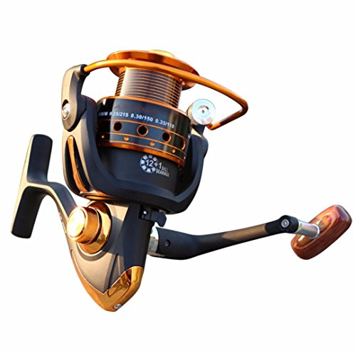 Fishing Reels Jigging Full Metal Spinning Reels EF1000-7000 12BB 5.2: 1 Fishing Reels Spinning Fishing Tools Accessories 4000 Series 12 - 92 Automatic Carbon