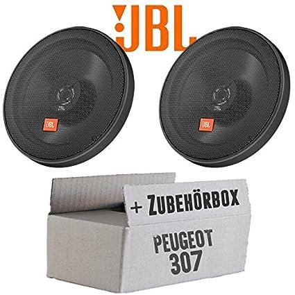Einbauset f/ür Peugeot 307 13cm Koax Lautsprecher JBL Stage 502 JUST SOUND best choice for caraudio 2-Wege