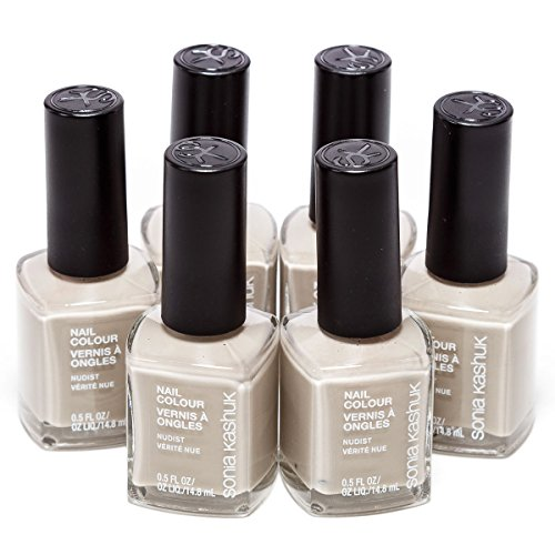 6-Pack Sonia Kashuk Nail Colour Polish 0.5 FL OZ Nail Color : Nudist - 11 (Colors close to: Light Gray Cement Pale Silver)