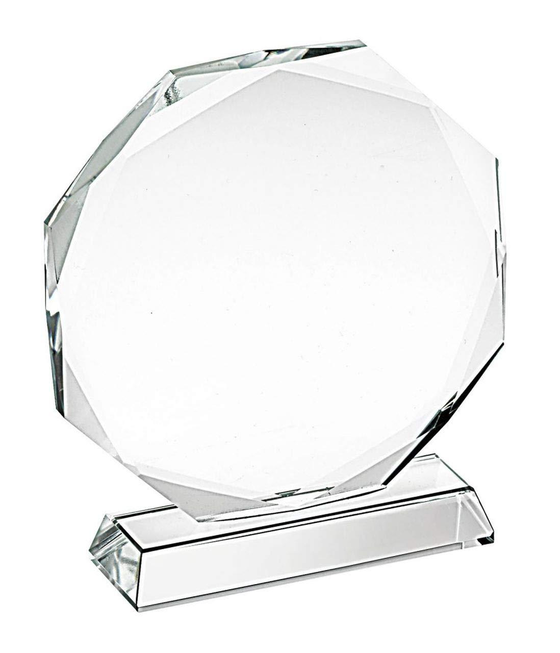 Trofeo de Cristal Octogonal diam 100mm cod.EL35350 cm 10,8x10x3,2h diam.10 by Varotto & Co.