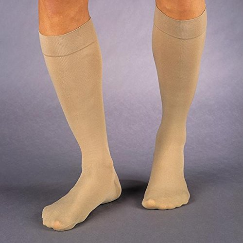(JOBST Relief Knee High 15-20 mmHg Compression Stockings, Closed Toe, X-Large Full Calf, Black)