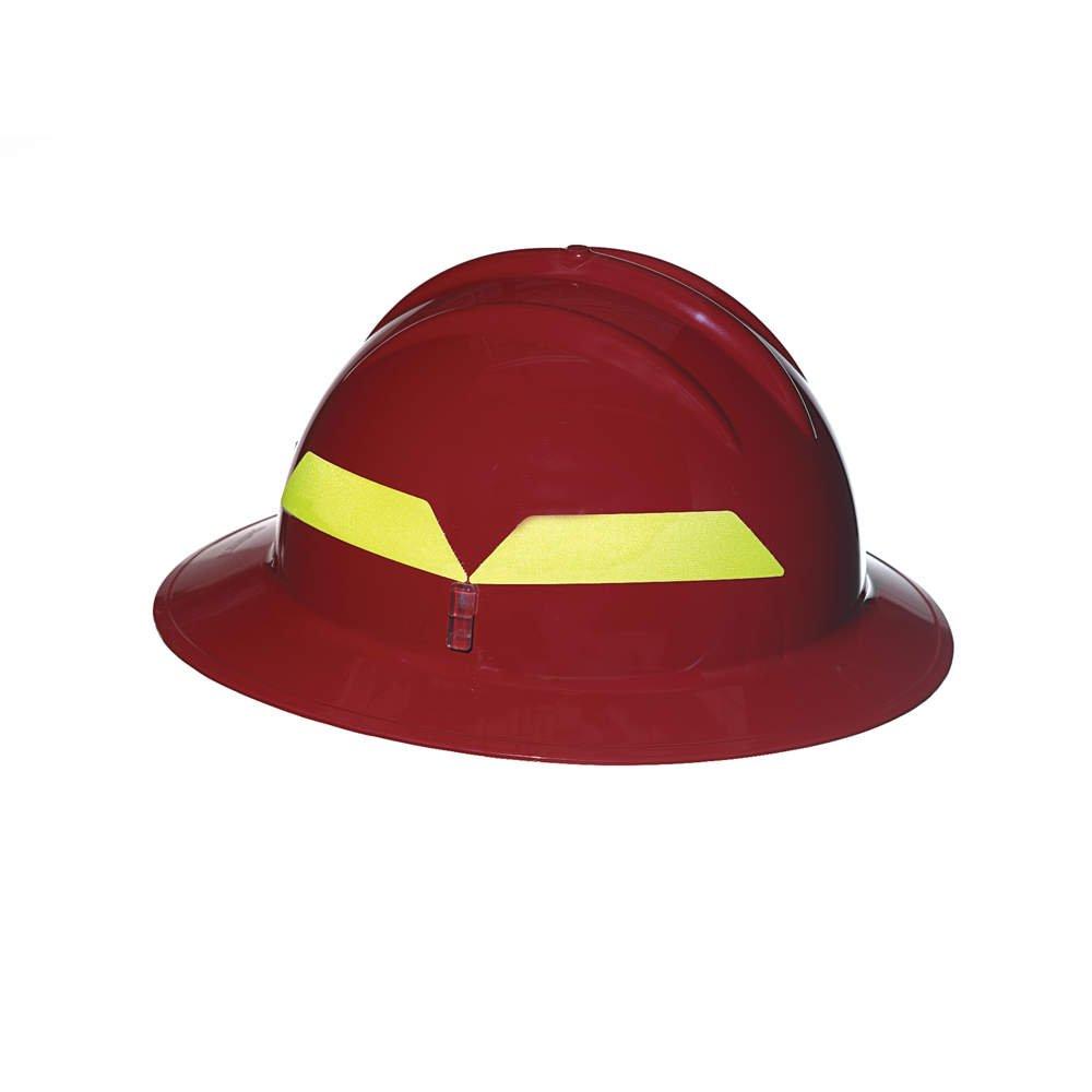 Fireヘルメット、赤、full-brim  B0716K5JGC