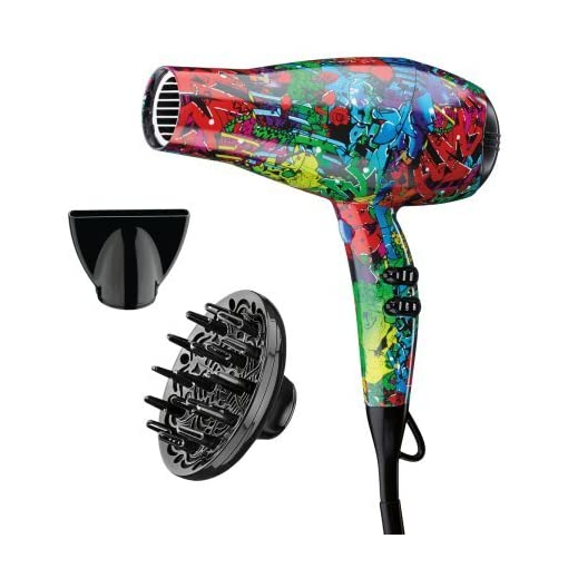 Infiniti Pro by Conair 1875 Watt Salon Performance AC Motor Styling Tool / Hair Dryer; Color featuring artwork by Chris Ede - 51UOZI 2B3SwL - Infiniti Pro by Conair 1875 Watt Salon Performance AC Motor Styling Tool / Hair Dryer; Color featuring artwork by Chris Ede
