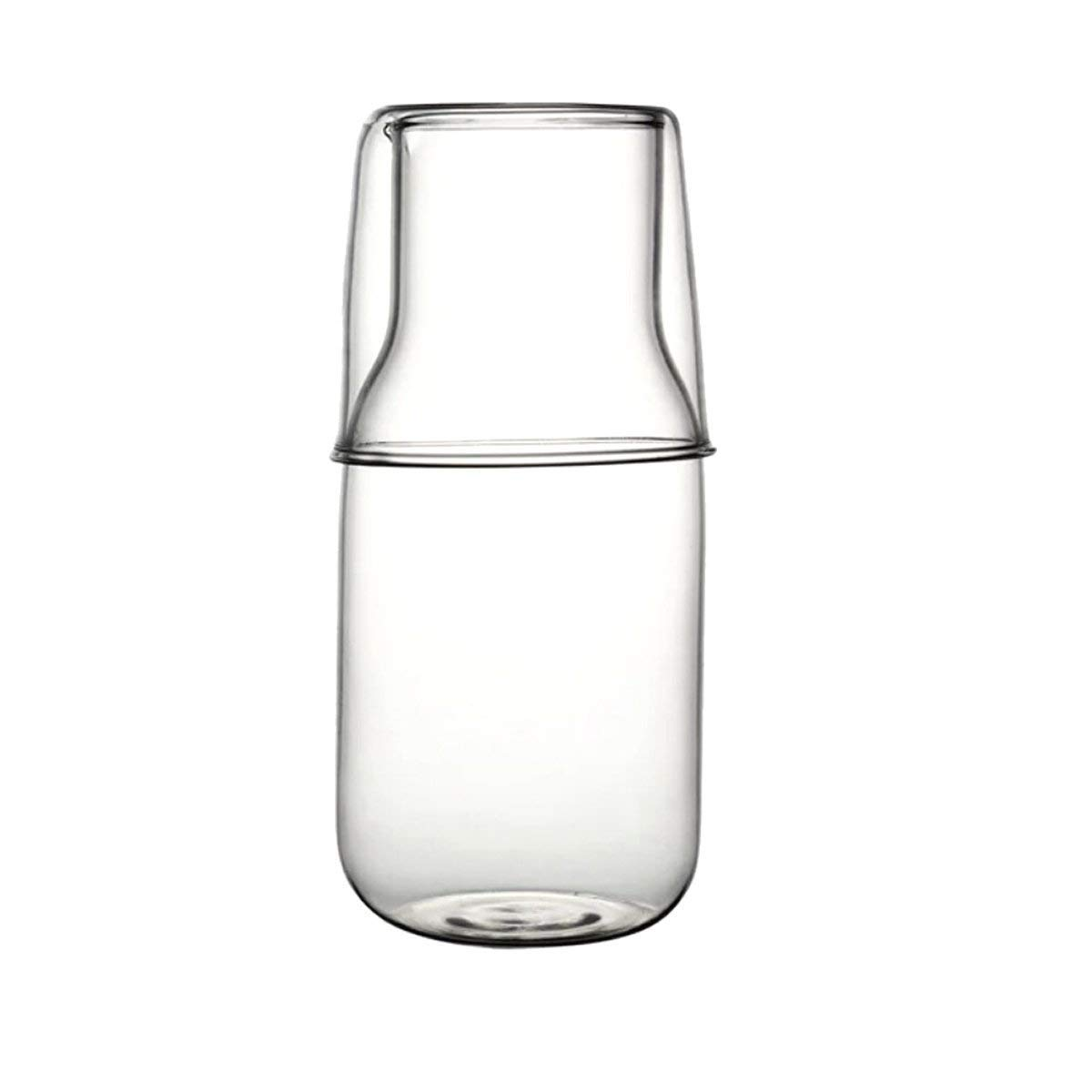 bouti1583 Glass Bedside Water Carafe Set with Tumbler