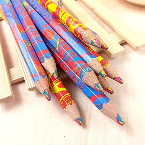 Amazoncom 10 Pieces Mixed Colors Rainbow Pencil Art Drawing