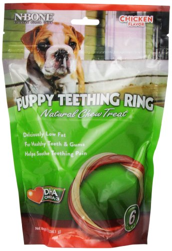 Chew Ring Dog (N-Bone 6-Pack Puppy Teething Ring, Chicken Flavor)
