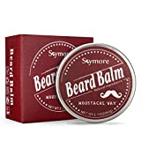 Facial Hair Kissing - Skymore Beard Balm Natural, Cream Beard Care, Moisturizer Growth Mustaches, Leave-In Conditioner & Softener For Men, Best Facial Hair Grooming, All Hair Types ---Perfect Gift For Father's Day