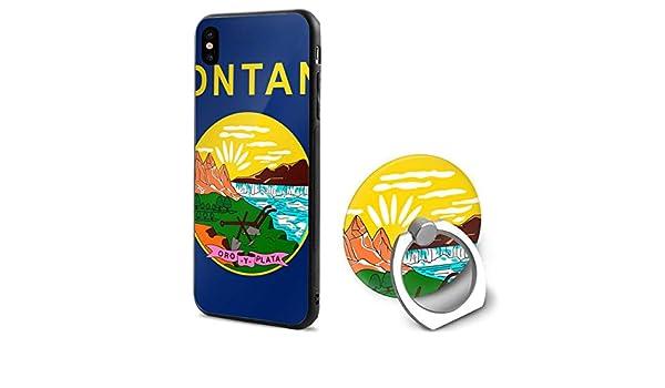 Amazon.com: Montana Flag iPhone X Mobile Phone Shell Shell ...