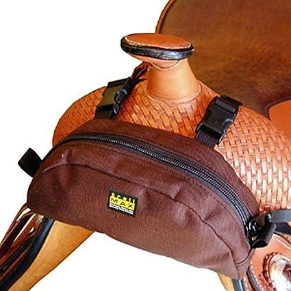 Trailmax Bolsa para borrén delantero - Equipaje para silla vaquera de cowboy - Marrón