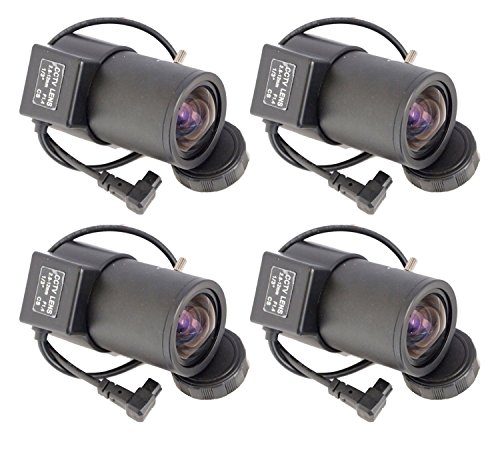 Evertech 4 Pcs 2.8-12mm Varifocal Auto Iris Lens for Professional CCD Cameras
