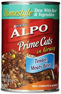 Purina Alpo Prime Cuts Beef Stew Canned Dog Food, 22-Ounce (Pack of 12)
