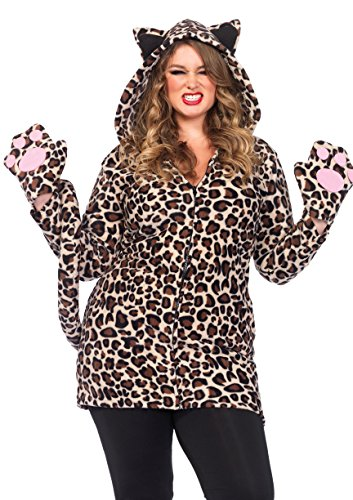 Leg Avenue Women's Plus Size Cozy Leopard, 3X/ 4X
