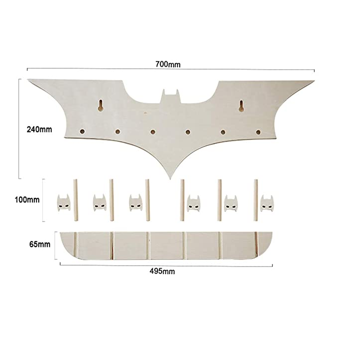 Amazon.com: KIMSAI Creative Solid Wood Batman Wall Hanging ...