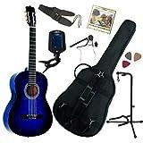 Pack Guitare Classique 1/2 Pour Enfant (6-9ans) Avec 7 Accessoires (bleu)