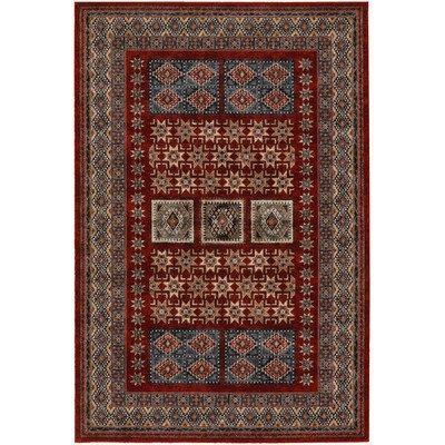 (Timeless Treasures Burgundy Royal Kazak Rug Rug Size: 6'6