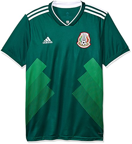 adidas 2018-2019 Mexico Home Football Soccer T-Shirt Jersey ()
