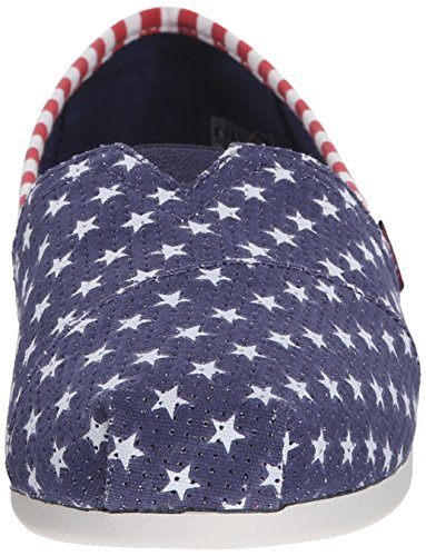 BOBS from Skechers Womens Plush Lil Americana Flat Navy Little Stars 22Ojy