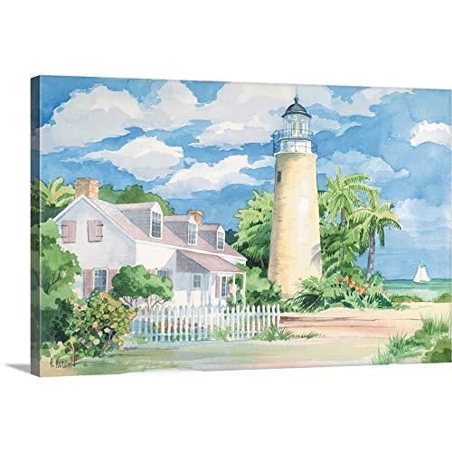 Paul Brent Premium Thick-Wrap Canvas Wall Art Print entitled Key West Lighthouse 36