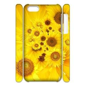 LZHCASE Design Diy hard Case Sunflower For Iphone 4/4s [Pattern-2]