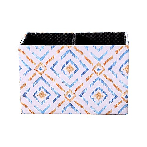 LINKWELL Colorful Ikat Pattern PU Leather Rectangular Pencil Pen Holder Desk Organizer PH28 by LINKWELL (Image #6)