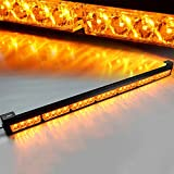 "Xprite 31.5"" Inch Yellow/Amber Led Strobe Light Bar Traffic Advisor Emergency Warning Flashing Vehicle Strobe Lights Kit 28 LED 7 Modes"