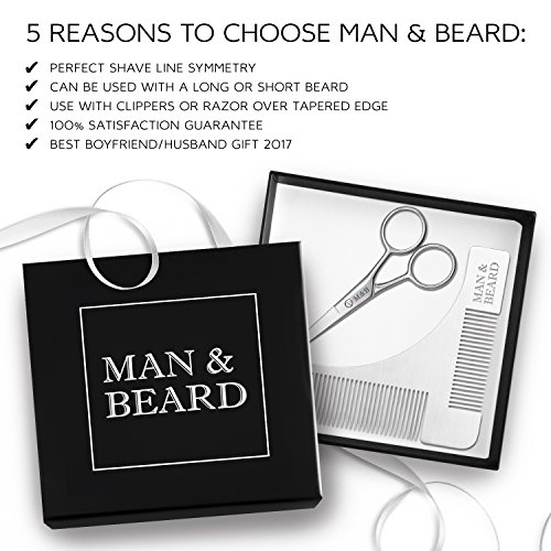 Man Beard Stainless Scissors Trimming product image