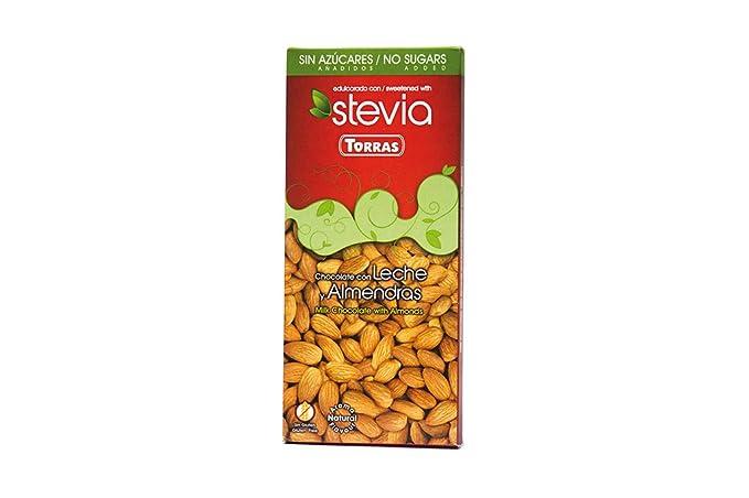 CHOCO LECHE ALMENDRAS C/STEVIA: Amazon.es: Alimentación y ...