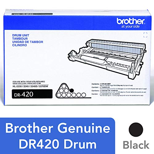 All Printers Purpose - Brother Genuine Drum Unit, DR420, Seamless Integration, Yields Up to 12,000 pages, Black