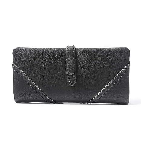 JCH-lug Wallet Monedero De Cuero para Mujer Monedero para ...