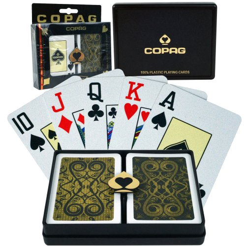 Copag Bridge Size Jumbo Index - Iluminura Setup Playing Cards (Black/Gold) Copag Bridge Cards