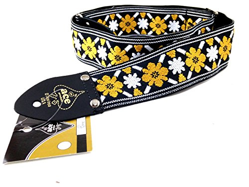 D'Andrea Ace Vintage Reissue Guitar Strap - Rooftop - Replica of Guitar Strap used on John Lennon's Epiphone Casino at the