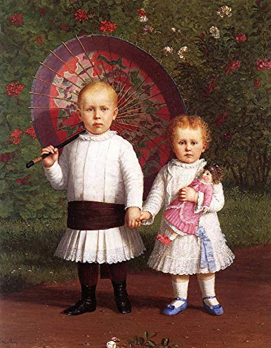 Enoch Wood Perry Portrait of Prescott and Mary Scott 1881 Private Collection 30