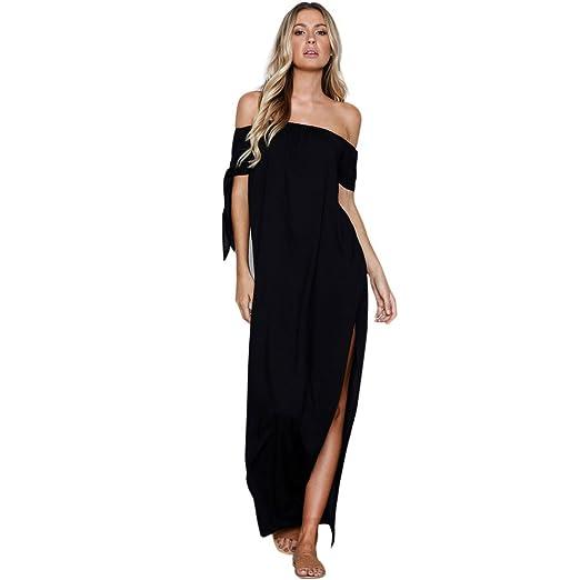 a422fed8e1 Amazon.com: Womens Fashion cut-price Summer Pure Slash Neck Bow ...