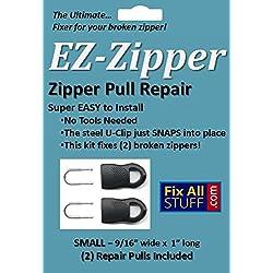 EZ-Zipper, Zipper Repair Pull, (2) SMALL, Easiest Fixer for your Broken Zipper!