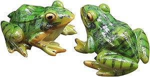 BESPORTBLE Frog Statue Mini Animal Sculpture Indoor Outdoor Decor for Garden Patio Yard Micro Fairy Garden Ornaments