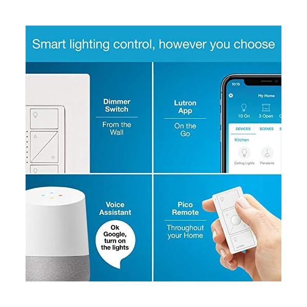 Lutron Caseta Wireless Smart Bridge | Works with Alexa, Apple HomeKit, and the Google Assistant | L-BDG2-WH | White 4