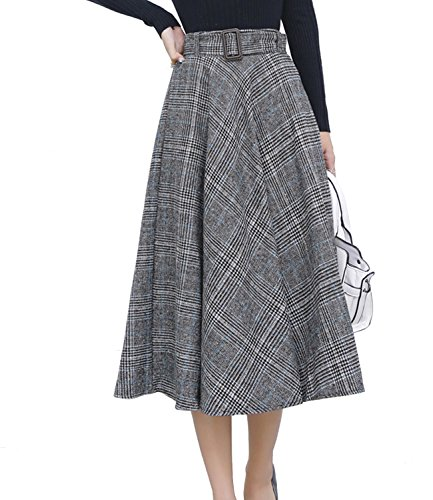 Vintage Wool Plaid Skirt - 6