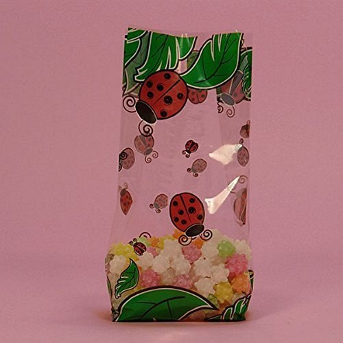 Lady Bug Cello Treat Bags - 9.5 x
