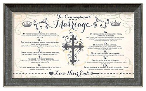 Carpentree 10 Commandments Marriage Artwork, 21 x 13'' by Carpentree
