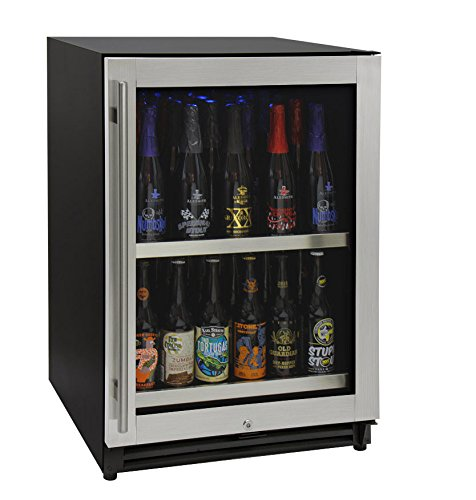 "Kegco VSCB-24SSRN 24"" Wide Undercounter Craft Beer Center Bomber Refrigerator"