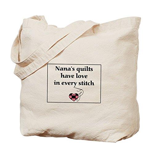 CafePress–Nana Love–Borsa di tela naturale, panno trapunte della borsa per la spesa