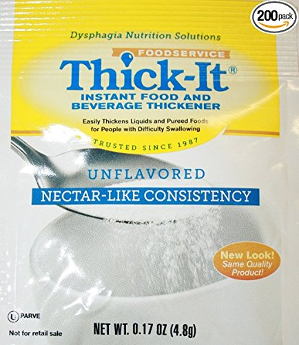Thick It Instant Food and Beverage Thickener, 0.17 Ounce -- 200 per case.